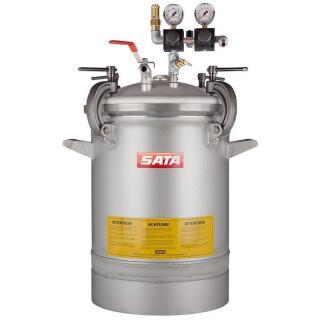 Farbdruckgefäß SATA FDG standard mit Abgang unten mit Muffe offen 48 Liter VA - SATA 186023