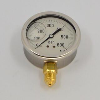 Manometer (Glyzerinfüllung) 0-600 bar 1/4
